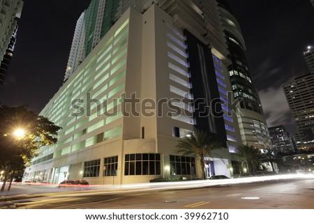 Building shot during night - stock photo