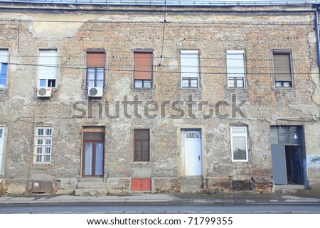 building side - stock photo