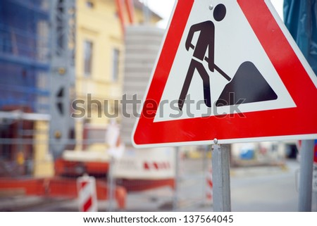 building site / construction site - stock photo