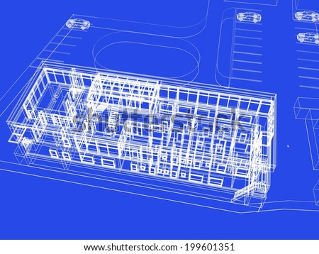 building sketch blueprint