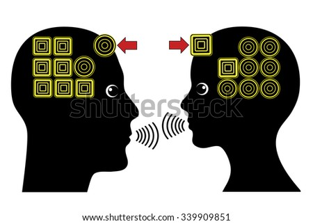 Building strong Relationship. Concept sign of empathy in a successful partnership between man and woman - stock photo