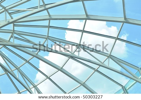 Building structure with windows
