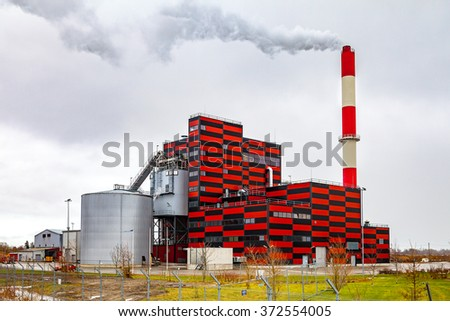 Building the new thermal power station in Tallinn, Estonia - stock photo