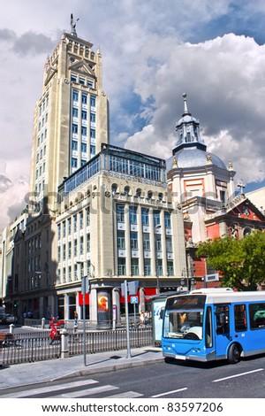 "Building ""the union and the phoenix"", Alcala street, Madrid, Spain - stock photo"