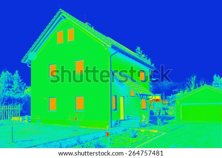 Building thermography - stock photo