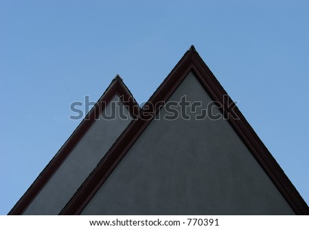Building tops - stock photo