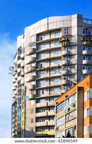 Building under construction. - stock photo