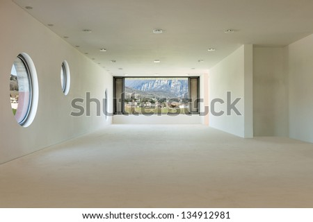 building under construction, interior - stock photo