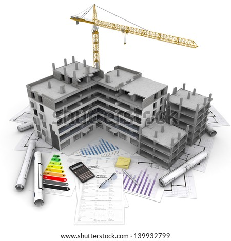 Building construction stock images royalty free images for Mortgage for house under construction