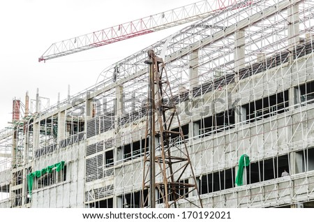 Building under constuction - stock photo