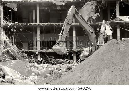 Building Under Demolition - stock photo
