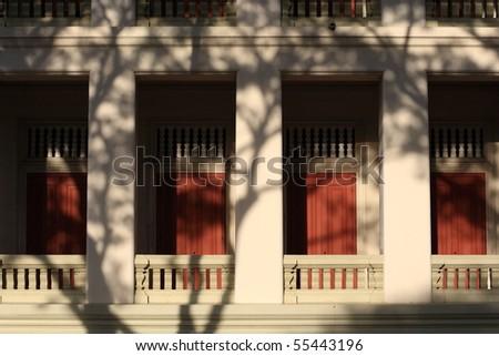 Building under shade. - stock photo