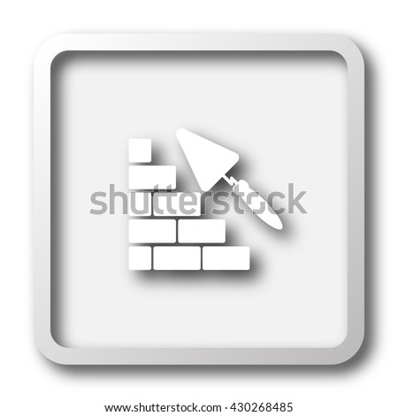 Building wall icon. Internet button on white background.