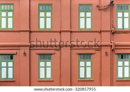 Building wall windows