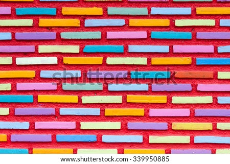 Building walls and a colorful background.