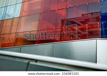 Building with colorful glass - stock photo