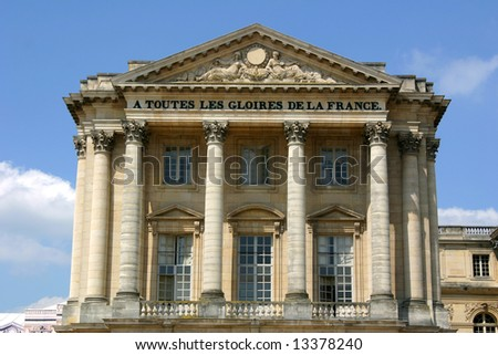 Building with Columns at the Front of the Palace of Versailles