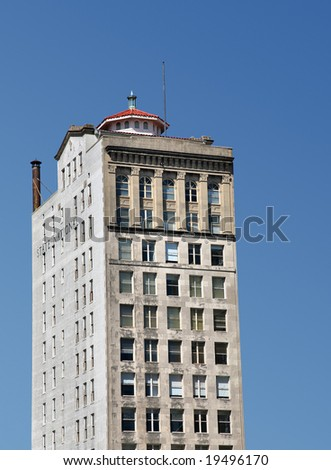 Building with Pagoda on Top(Release Information: Editorial Use Only. Use of this image in advertising or for promotional purposes is prohibited.) - stock photo