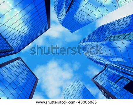 Buildings. - stock photo