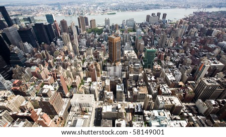 Buildings and City Skyline of a huge Metropolis - stock photo