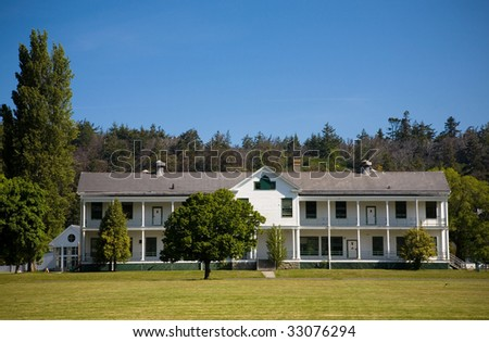 Buildings at Fort Worden State Park in Port Townsend Washington.