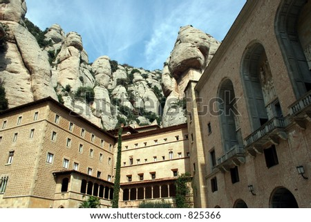 Buildings at Montserrat in Spain. - stock photo