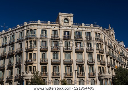 Buildings' facades of great architectural interest in the city of Barcelona - Spain