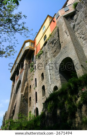 Buildings from Sorrento, Italy - stock photo