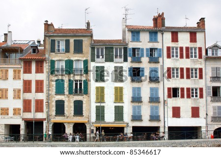 buildings in Bayonne, France - stock photo