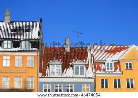 Buildings in Copenhagen - stock photo