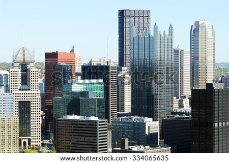 Buildings in downtown  Pittsburgh, PA  - stock photo