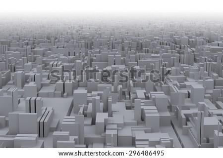 Buildings in metropolis - stock photo
