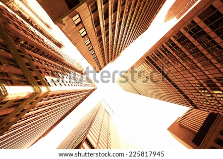Buildings in New York City - stock photo