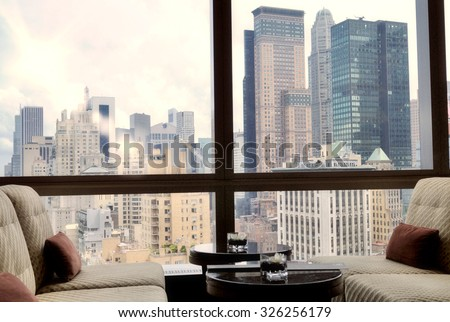 Buildings in New York, USA - stock photo