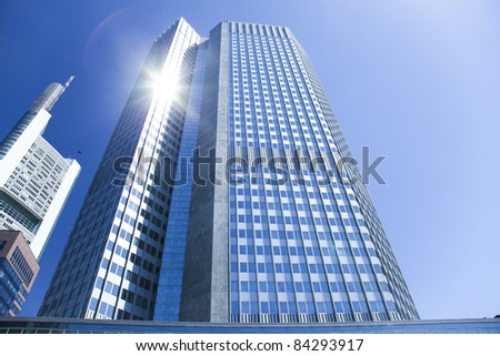 Buildings in perspective - stock photo