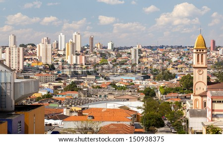 Buildings in Sao Paulo, Brazil - Latin America - stock photo