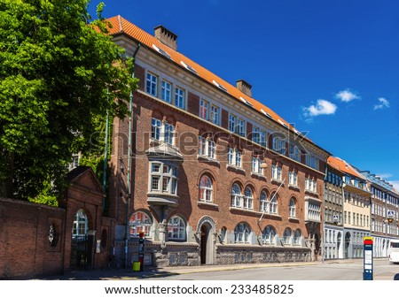 Buildings in the city center of Copenhagen, Denmark - stock photo