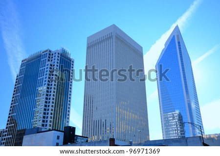 buildings in uptown Charlotte, North Carolina - stock photo