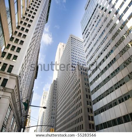 Buildings of a City Skyline - stock photo