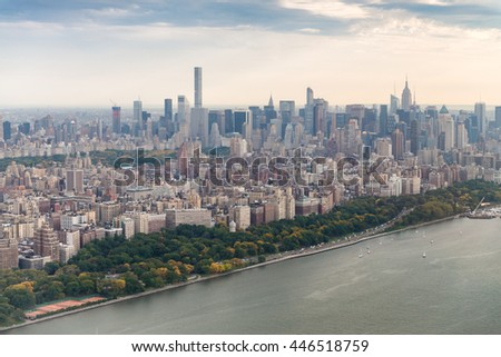 Buildings of Manhattan, New York City. - stock photo