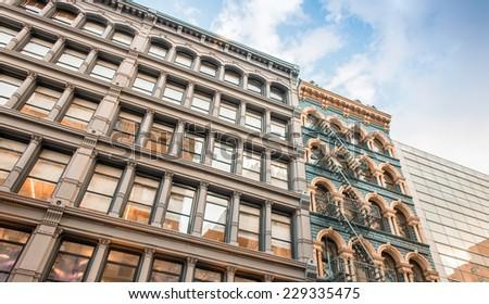 Buildings of New York - City skyline. - stock photo