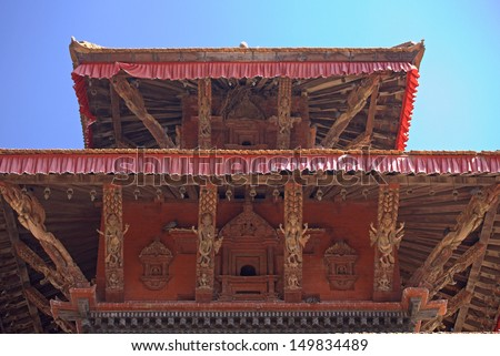 Buildings on the Pattan Durbar Square in Kathmandu, Nepal