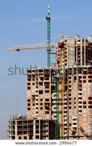 Buildings  skyscraper in Kiev - stock photo