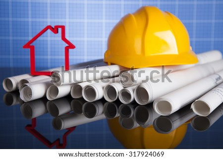 Buildings under construction and cranes - stock photo