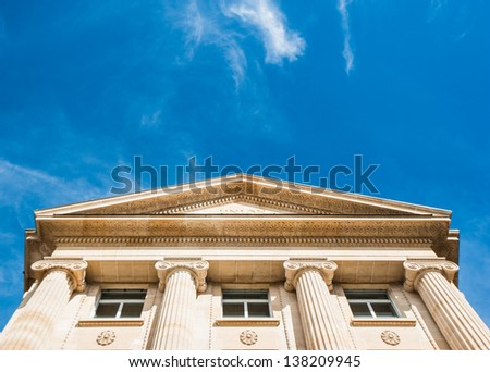 Buillding with ironic style - stock photo