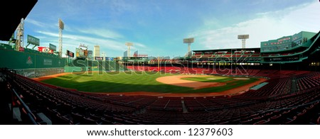 Built in 1912, beautiful Fenway Park is one of the best known and most historic landmarks in the city of Boston. - stock photo