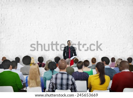 Buisness People Meeting Seminar Conference Audience Team Concept - stock photo