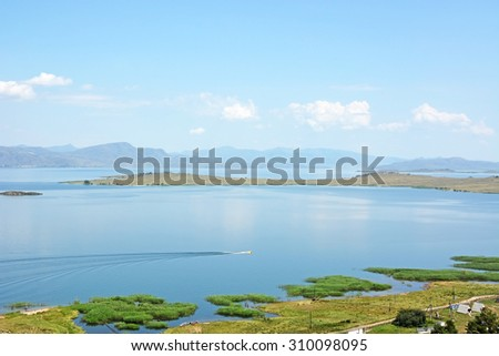 Bukhtarma lake (reservoir) in Kazakhstan