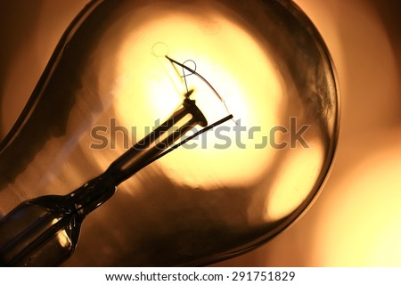 bulb concept electricity - stock photo