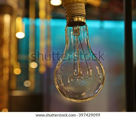 bulb edison  - stock photo